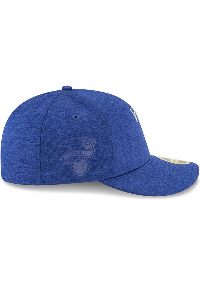New Era Texas Rangers Mens Blue 2018 Clubhouse LP 59FIFTY Fitted Hat - Image 5