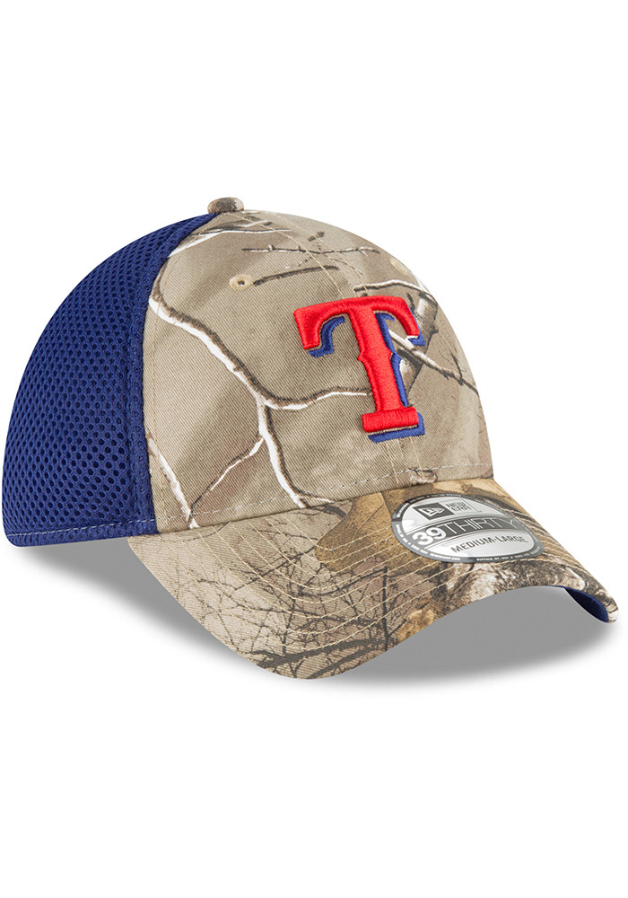 New Era Texas Rangers Mens Green Real Tree Neo 39THIRTY Flex Hat - Image 2