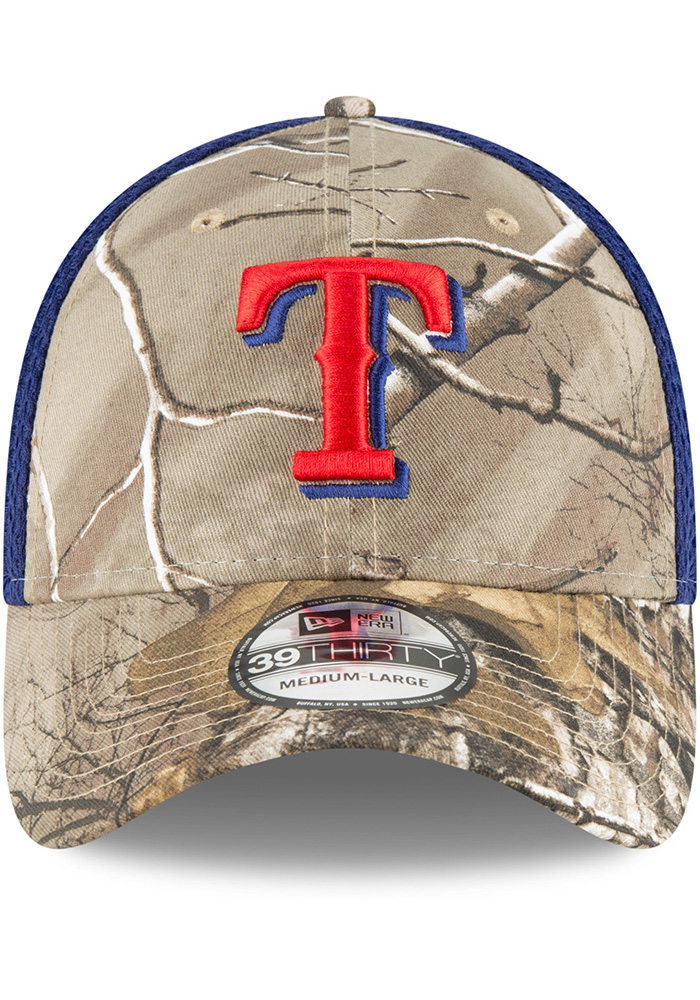 New Era Texas Rangers Mens Green Real Tree Neo 39THIRTY Flex Hat - Image 3