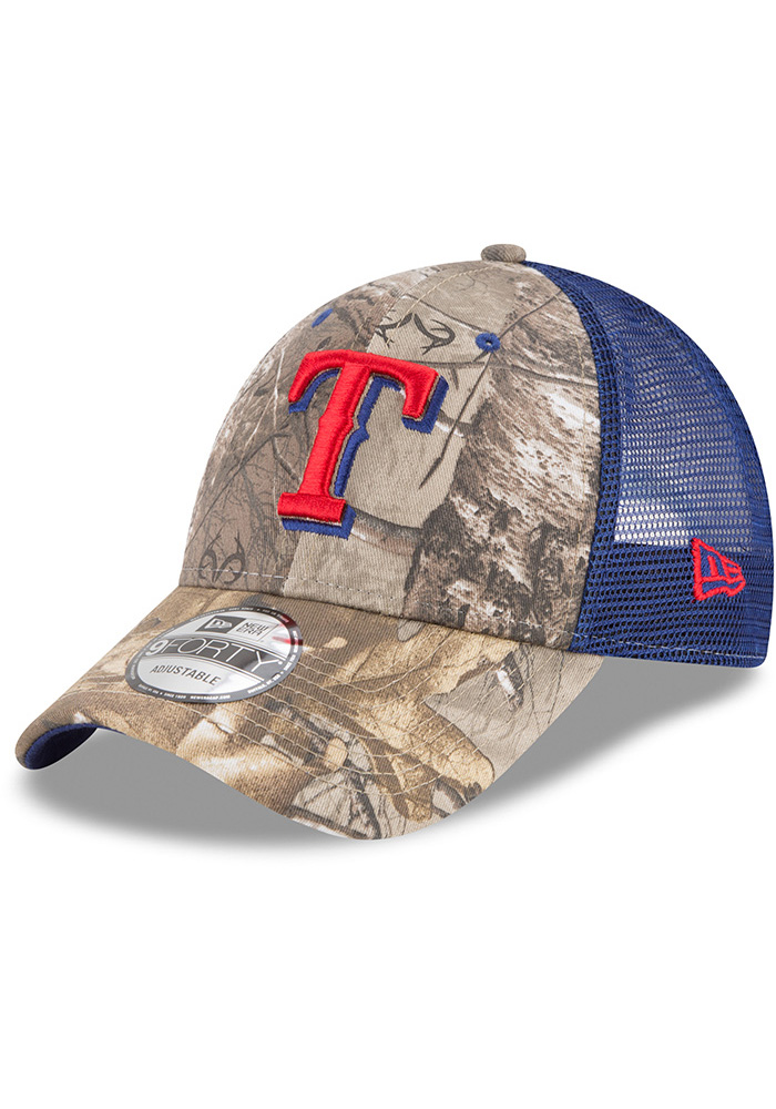 New Era Texas Rangers Realtree Trucker 9FORTY Adjustable Hat - Green - Image 1