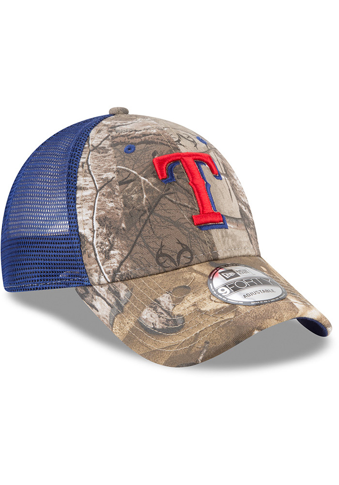 New Era Texas Rangers Realtree Trucker 9FORTY Adjustable Hat - Green - Image 2