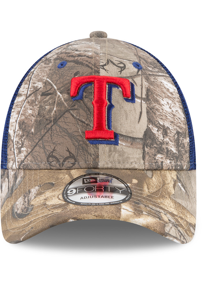New Era Texas Rangers Realtree Trucker 9FORTY Adjustable Hat - Green - Image 3