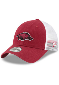 Arkansas Razorbacks Youth New Era Trucker Shine 9TWENTY Adjustable Hat - Cardinal