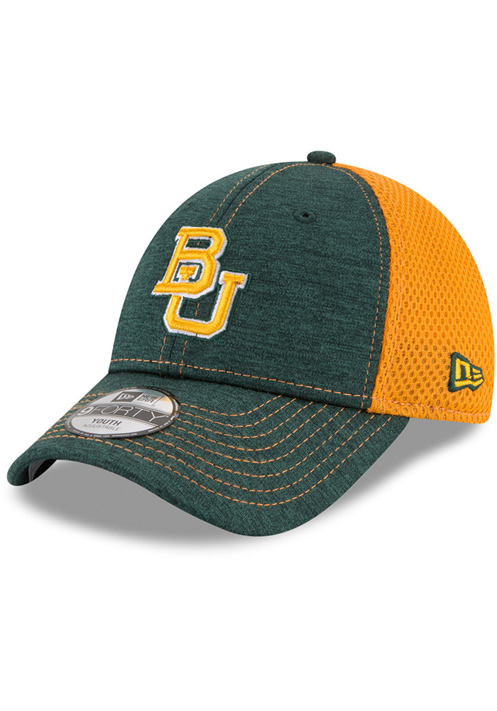 New Era Baylor Bears Green Shadow Turn 2 Jr 9FORTY Youth Adjustable Hat - Image 1