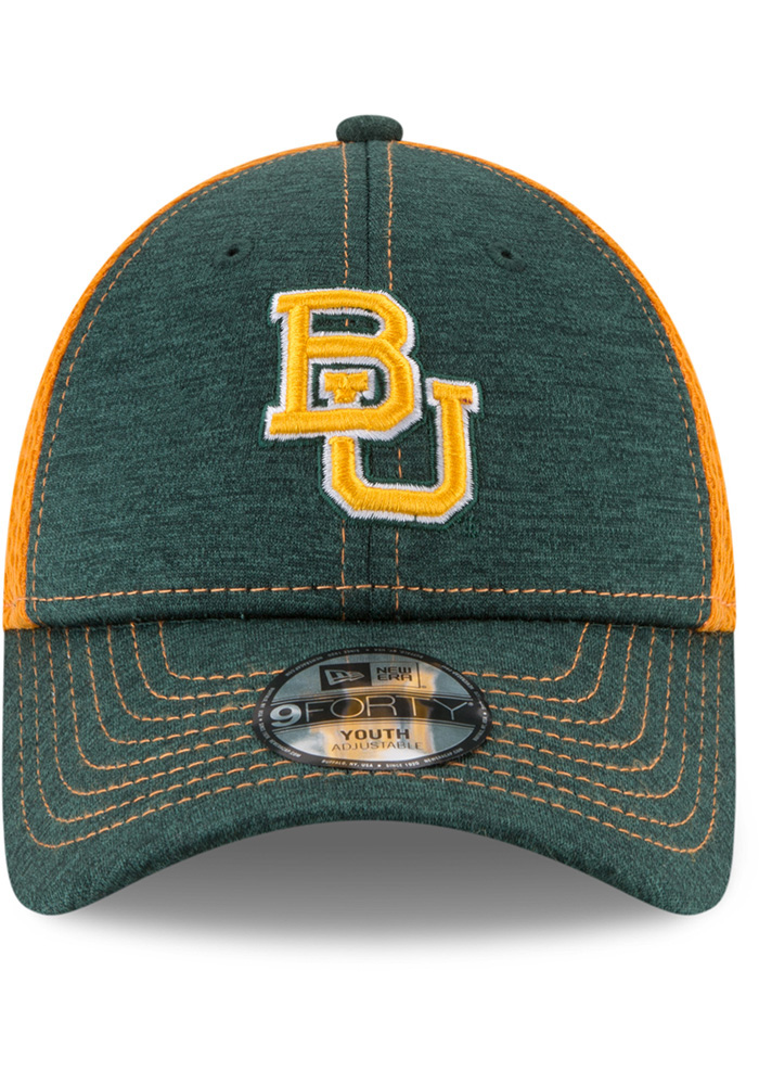 New Era Baylor Bears Green Shadow Turn 2 Jr 9FORTY Youth Adjustable Hat - Image 3