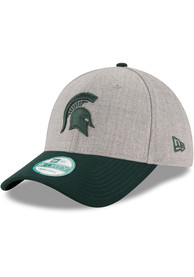 34c6b366ea4 New Era Michigan State Spartans Grey The League Heather Jr 9FORTY Youth  Adjustable Hat