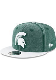 New Era Michigan State Spartans Green Rugged Canvas 9FIFTY Snapback Hat