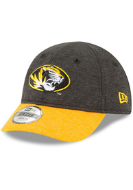 dc598b522f1 New Era Missouri Tigers Baby Shadowed Tot 9FORTY Adjustable Hat - Black