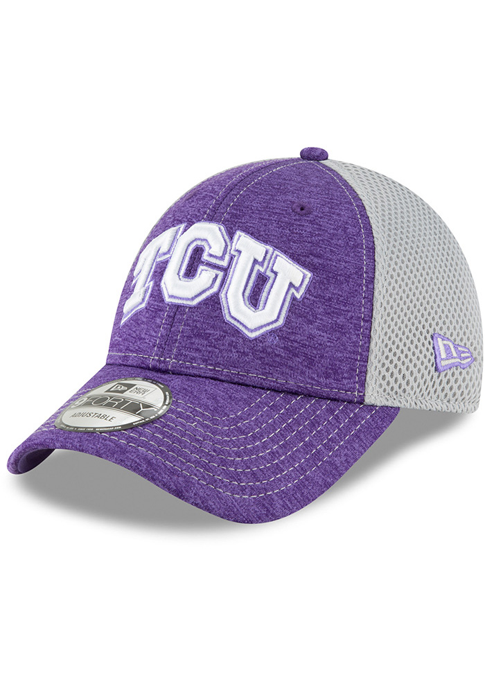 New Era TCU Horned Frogs Shadow Turn 2 9FORTY Adjustable Hat - Purple - Image 1