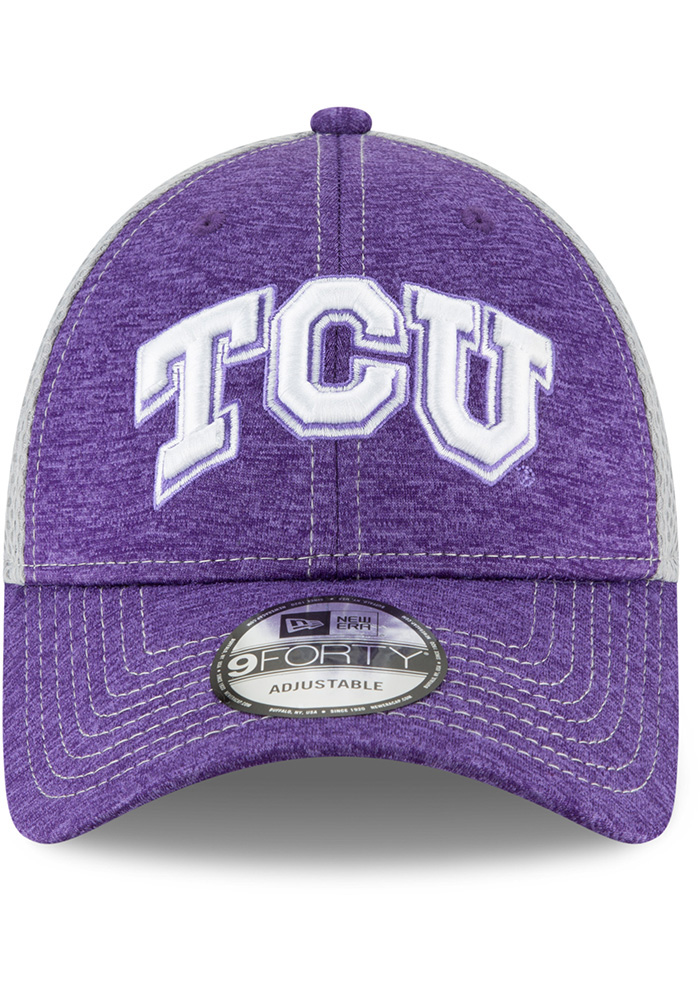 New Era TCU Horned Frogs Shadow Turn 2 9FORTY Adjustable Hat - Purple - Image 3