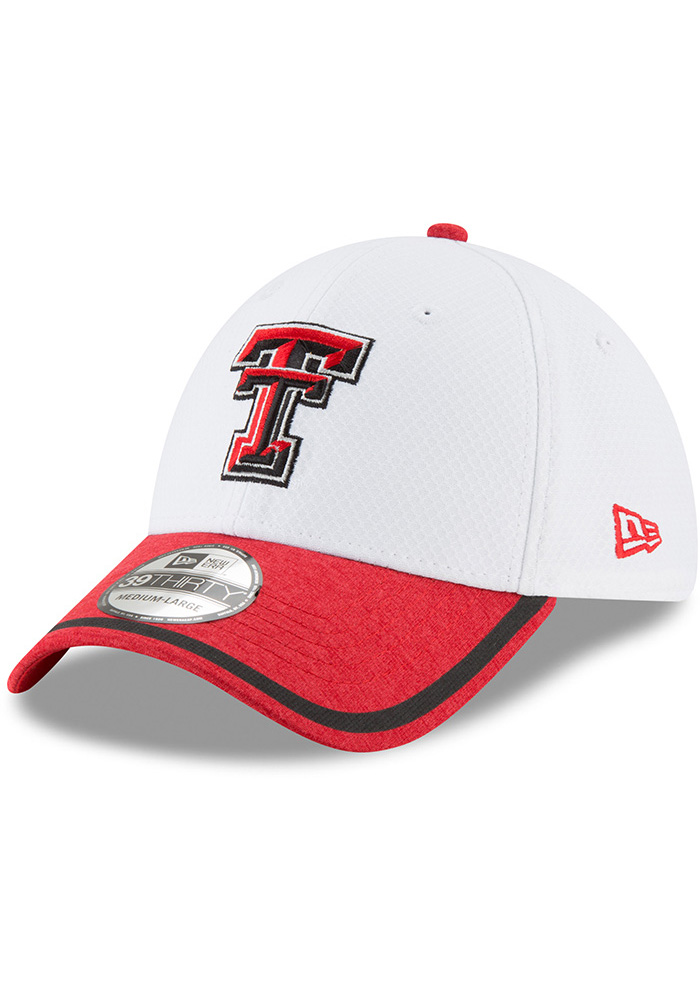 huge discount 4867c 5c337 New Era Texas Tech Red Raiders Mens White Tinted Trim 39THIRTY Flex Hat -  Image 1