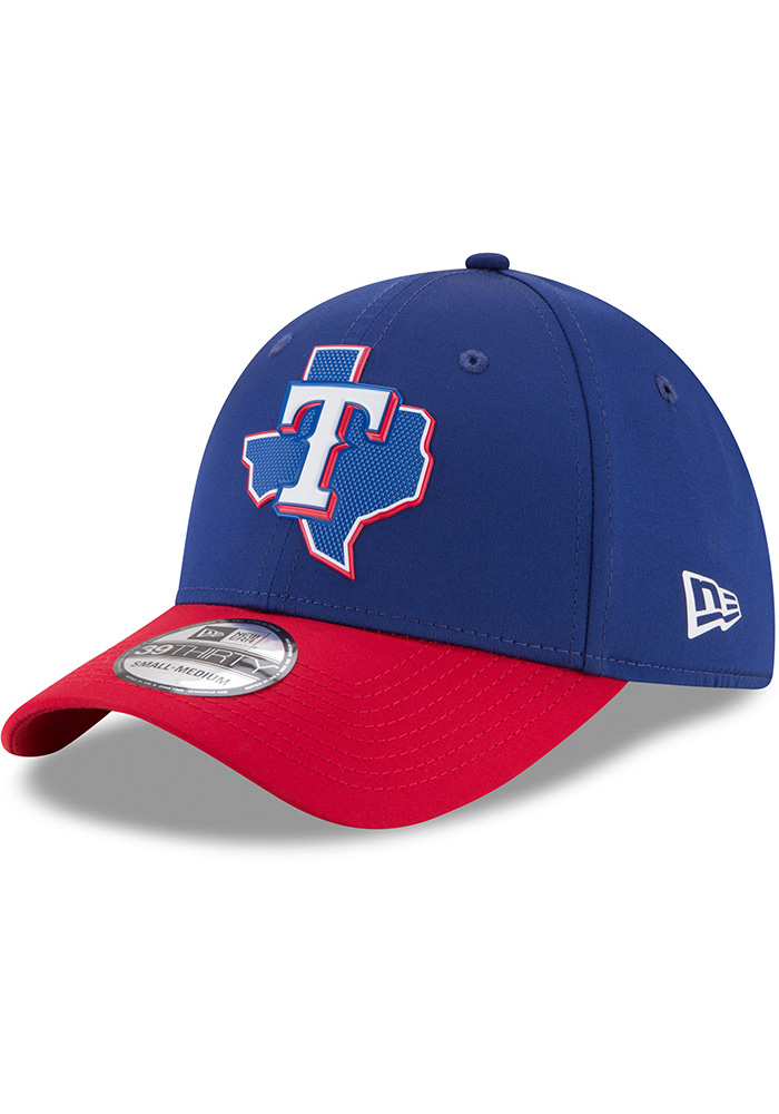 new styles 75608 73f24 ... italy new era texas rangers mens navy blue prolight 2018 bp 39thirty  flex hat image 1