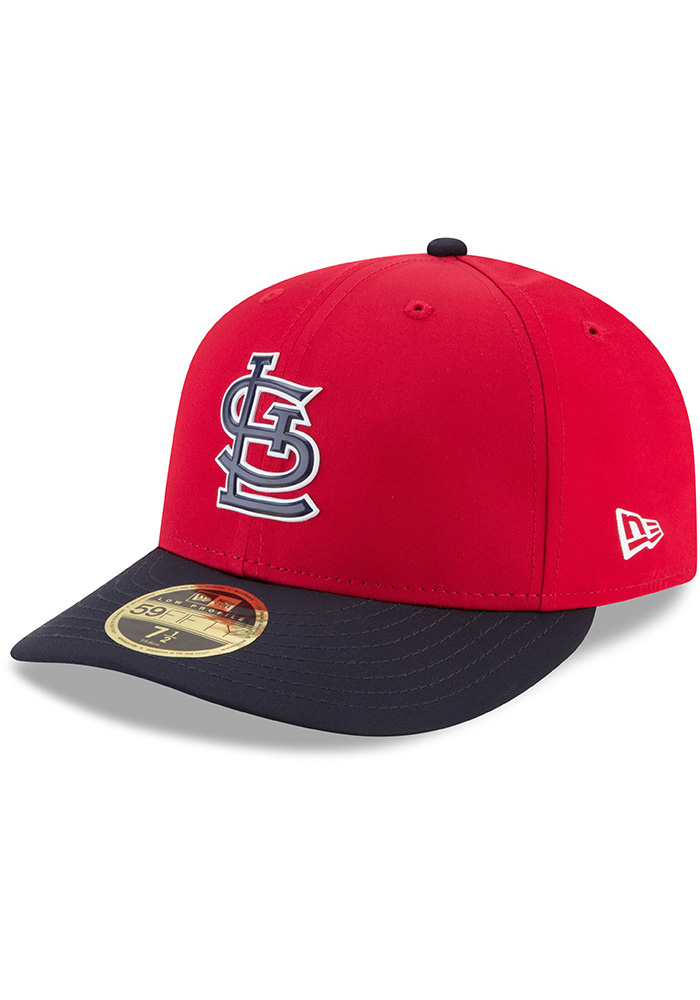 091587370 New Era St Louis Cardinals Mens Red ProLight 2018 BP Low Pro 59FIFTY Fitted  Hat -