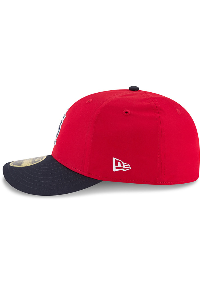 New Era St Louis Cardinals Mens Red ProLight 2018 BP Low Pro 59FIFTY Fitted Hat - Image 4