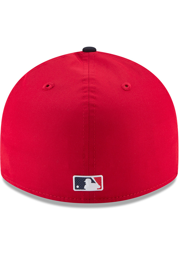 New Era St Louis Cardinals Mens Red ProLight 2018 BP Low Pro 59FIFTY Fitted Hat - Image 5