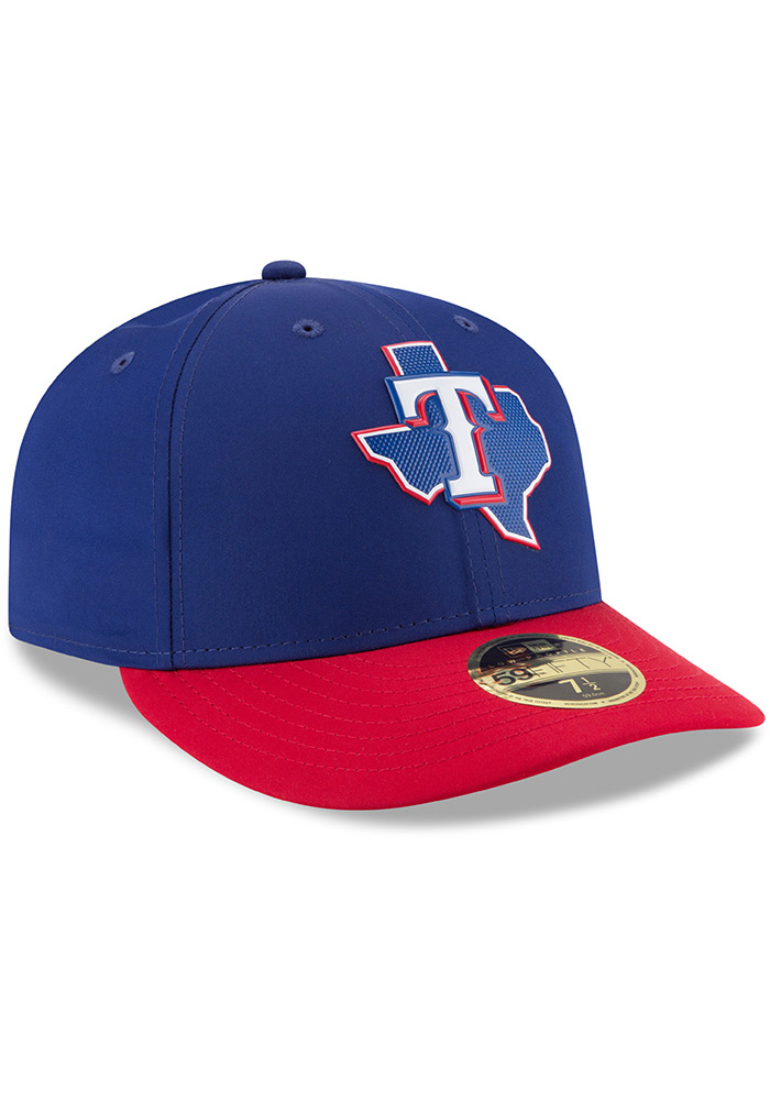 New Era Texas Rangers Mens Navy Blue ProLight 2018 BP Low Pro 59FIFTY Fitted Hat - Image 2