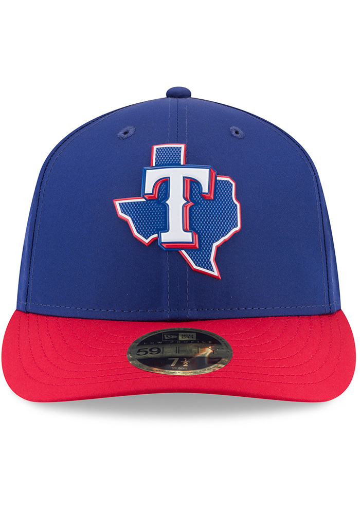 New Era Texas Rangers Mens Navy Blue ProLight 2018 BP Low Pro 59FIFTY Fitted Hat - Image 3