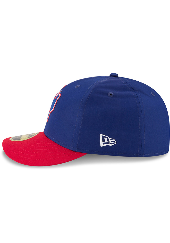 New Era Texas Rangers Mens Navy Blue ProLight 2018 BP Low Pro 59FIFTY Fitted Hat - Image 4