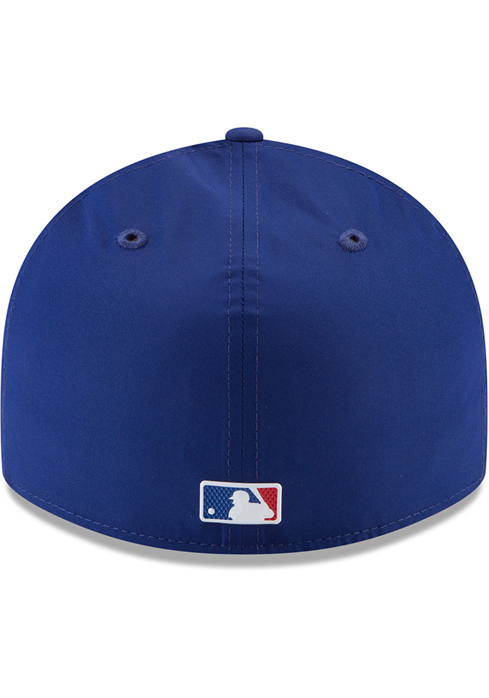 New Era Texas Rangers Mens Navy Blue ProLight 2018 BP Low Pro 59FIFTY Fitted Hat - Image 5