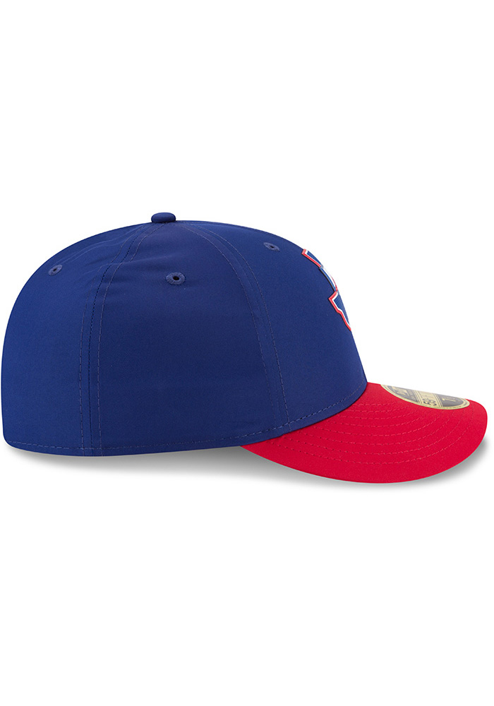 New Era Texas Rangers Mens Navy Blue ProLight 2018 BP Low Pro 59FIFTY Fitted Hat - Image 6