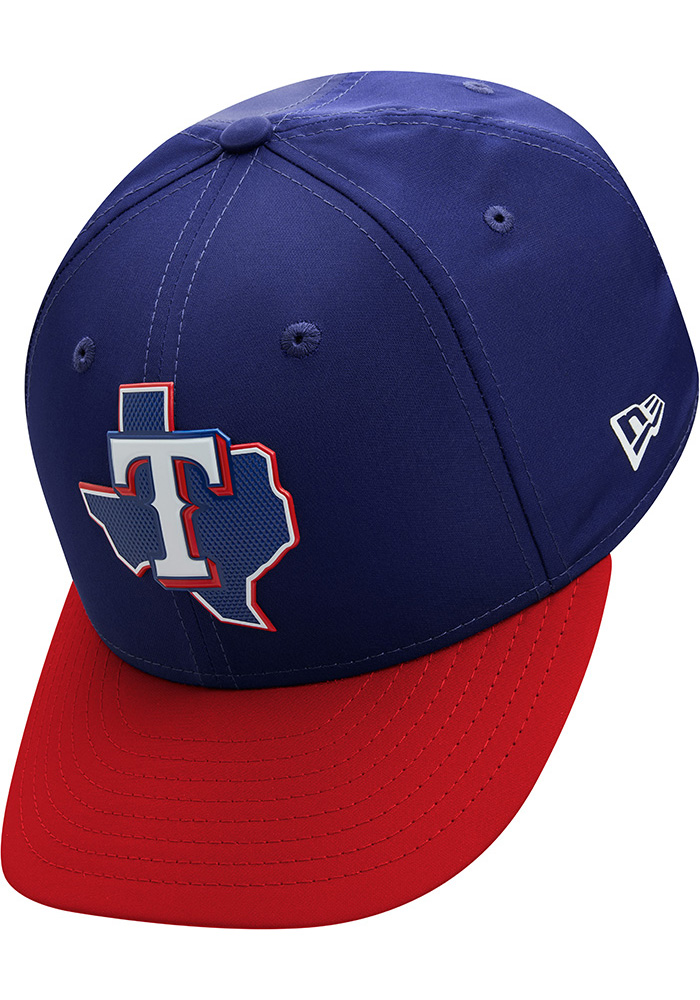 New Era Texas Rangers Mens Navy Blue ProLight 2018 BP Low Pro 59FIFTY Fitted Hat - Image 7
