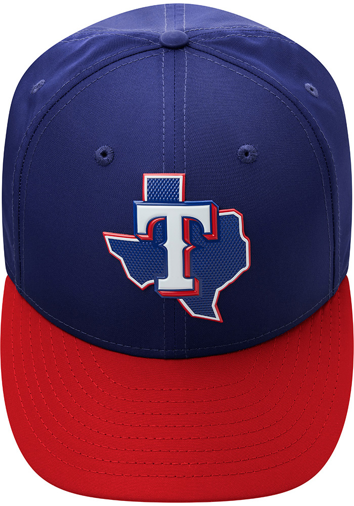 New Era Texas Rangers Mens Navy Blue ProLight 2018 BP Low Pro 59FIFTY Fitted Hat - Image 9