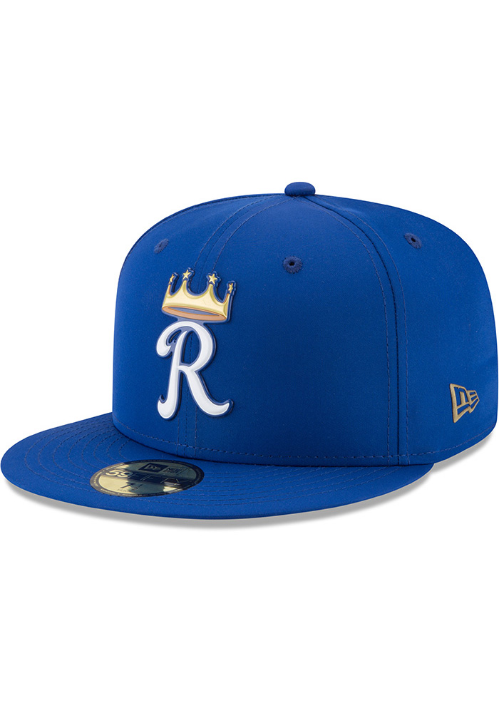 b06d4a27cb7 New Era Kansas City Royals Blue ProLight 2018 BP Jr 59FIFTY Youth Fitted Hat