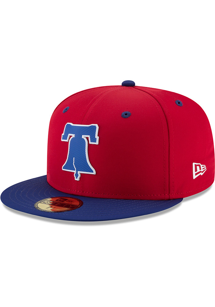 New Era Philadelphia Phillies Mens Red ProLight 2018 BP 59FIFTY Fitted Hat  - Image 1 2d25f6328310