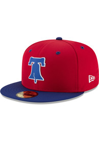 74872864 Philadelphia Phillies New Era Red ProLight 2018 BP 59FIFTY Fitted Hat