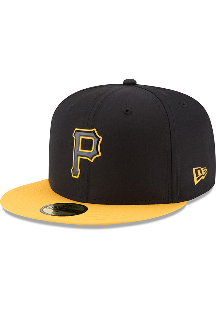 d16c23e98 New Era Pittsburgh Pirates Mens Black ProLight 2018 BP 59FIFTY Fitted Hat