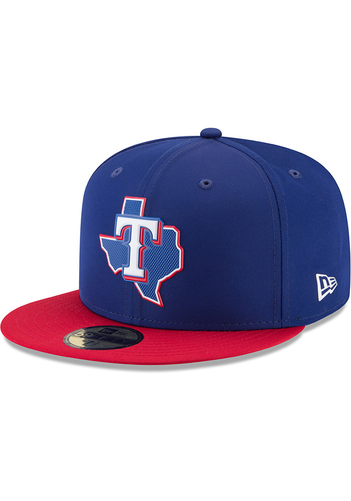New Era Texas Rangers Mens Navy Blue ProLight 2018 BP 59FIFTY Fitted Hat - Image 1