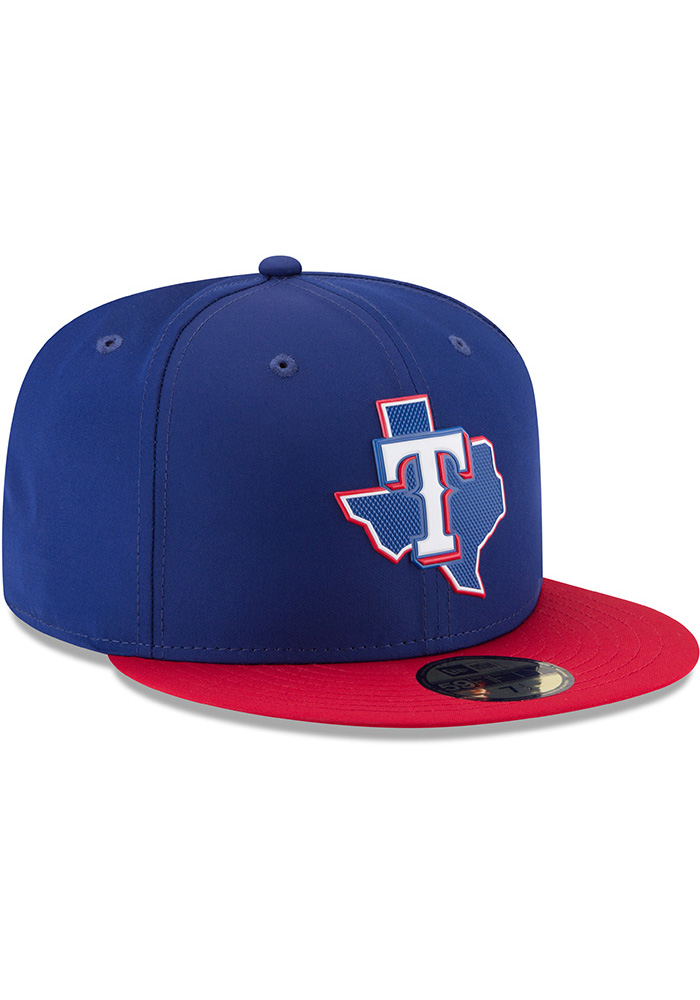 New Era Texas Rangers Mens Navy Blue ProLight 2018 BP 59FIFTY Fitted Hat - Image 2