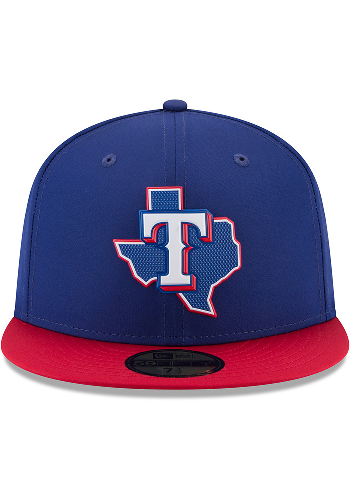 New Era Texas Rangers Mens Navy Blue ProLight 2018 BP 59FIFTY Fitted Hat - Image 3