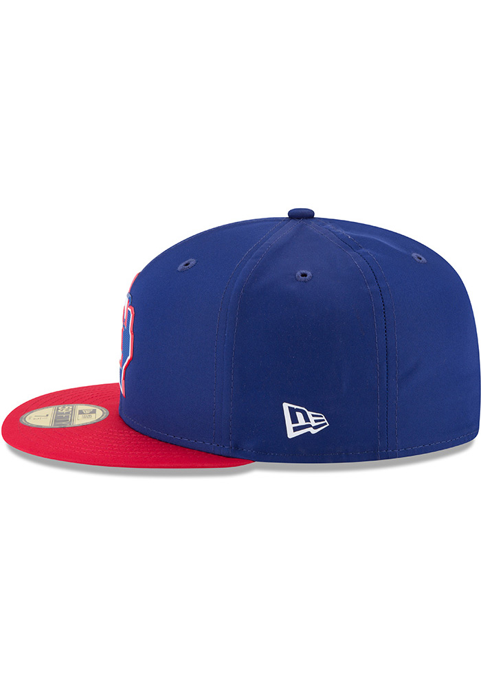 New Era Texas Rangers Mens Navy Blue ProLight 2018 BP 59FIFTY Fitted Hat - Image 4