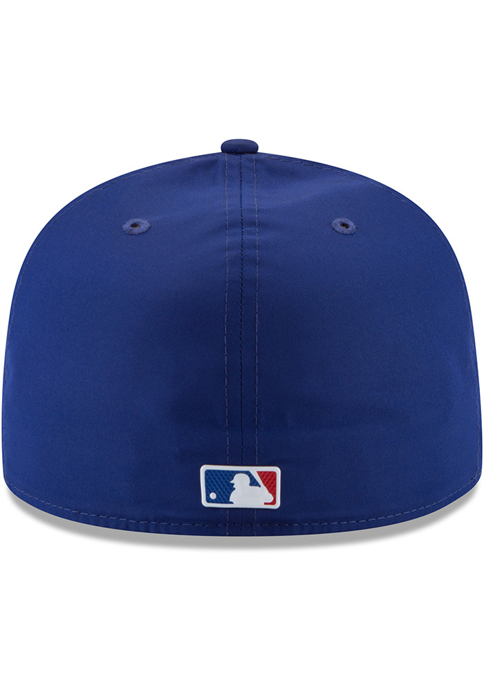 New Era Texas Rangers Mens Navy Blue ProLight 2018 BP 59FIFTY Fitted Hat - Image 5