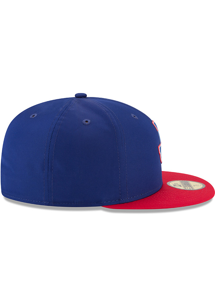 New Era Texas Rangers Mens Navy Blue ProLight 2018 BP 59FIFTY Fitted Hat - Image 6