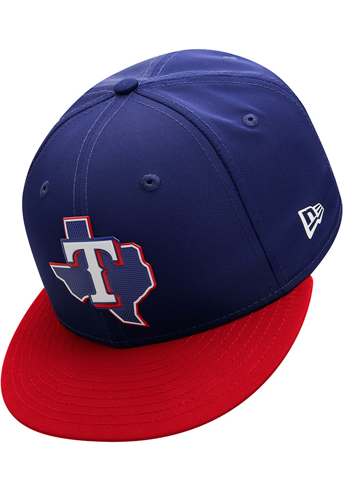 New Era Texas Rangers Mens Navy Blue ProLight 2018 BP 59FIFTY Fitted Hat - Image 7