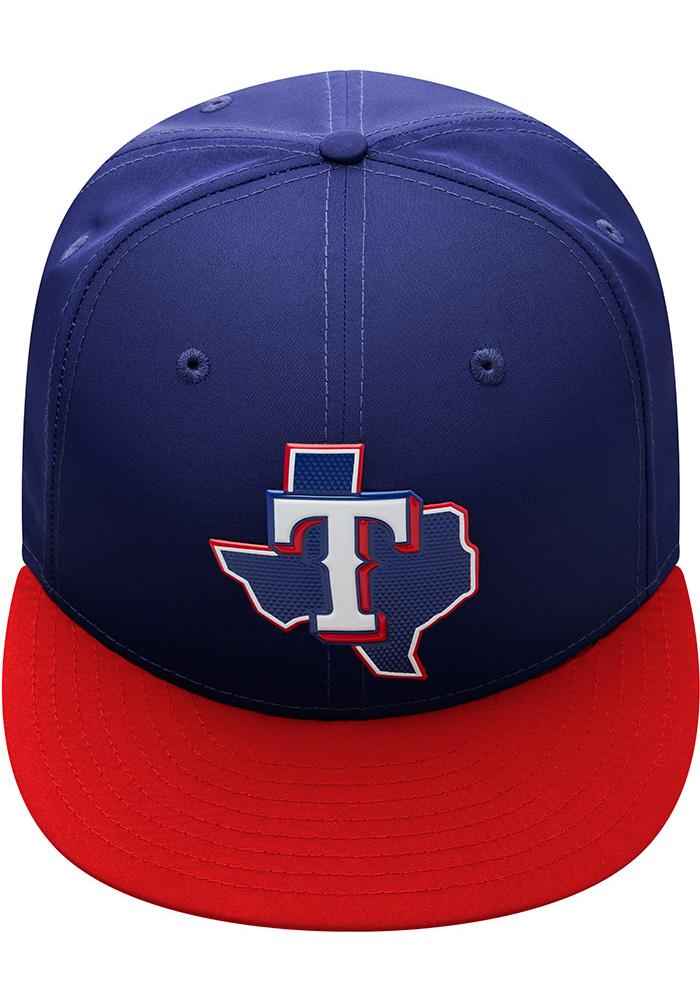 New Era Texas Rangers Mens Navy Blue ProLight 2018 BP 59FIFTY Fitted Hat - Image 8
