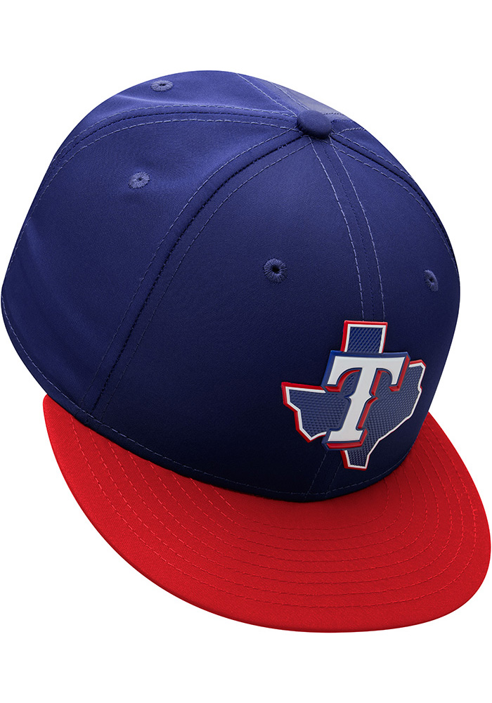 New Era Texas Rangers Mens Navy Blue ProLight 2018 BP 59FIFTY Fitted Hat - Image 9
