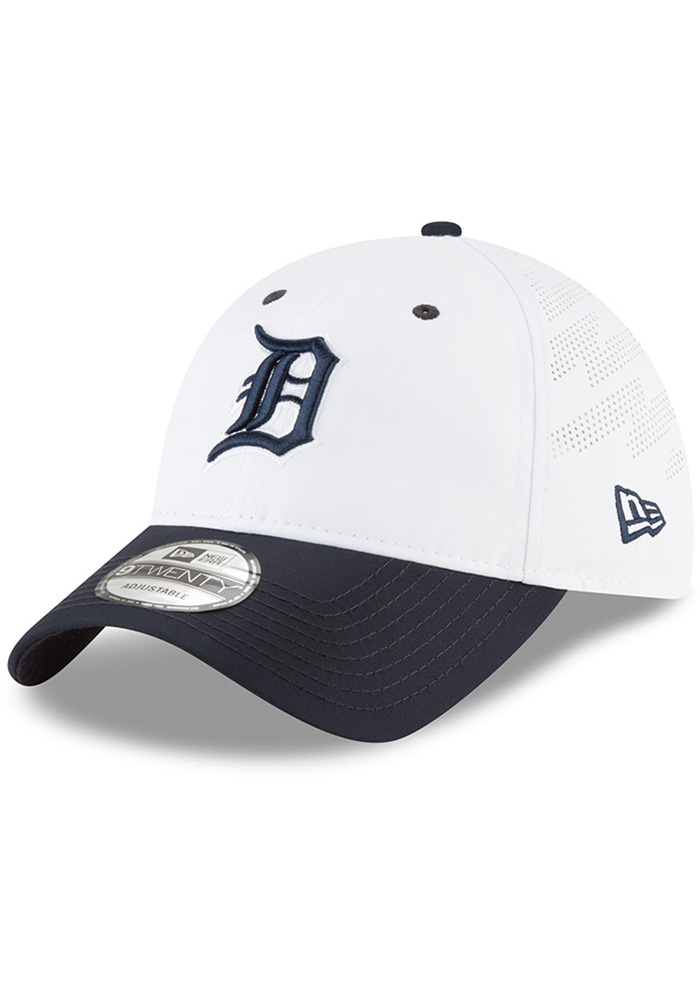 1dbea5b3eac New Era Detroit Tigers White Spring Training 2018 BP 9TWENTY Adjustable Hat