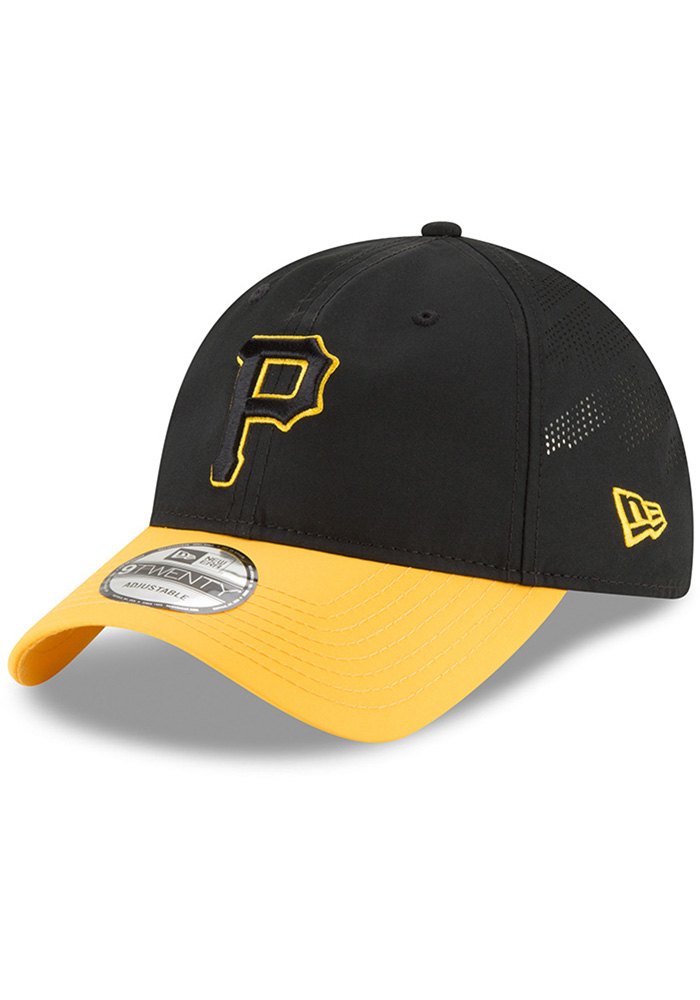 New Era Pittsburgh Pirates Mens Black Spring Training 2018 BP 9TWENTY Adjustable Hat - Image 1