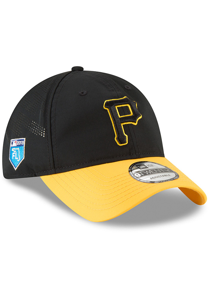 New Era Pittsburgh Pirates Mens Black Spring Training 2018 BP 9TWENTY Adjustable Hat - Image 2