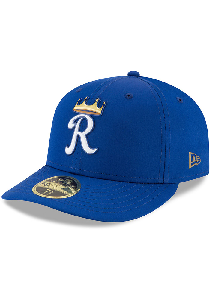 New Era Kansas City Royals Mens Blue Spring Training 2018 BP Low Pro 59FIFTY Fitted Hat - Image 1