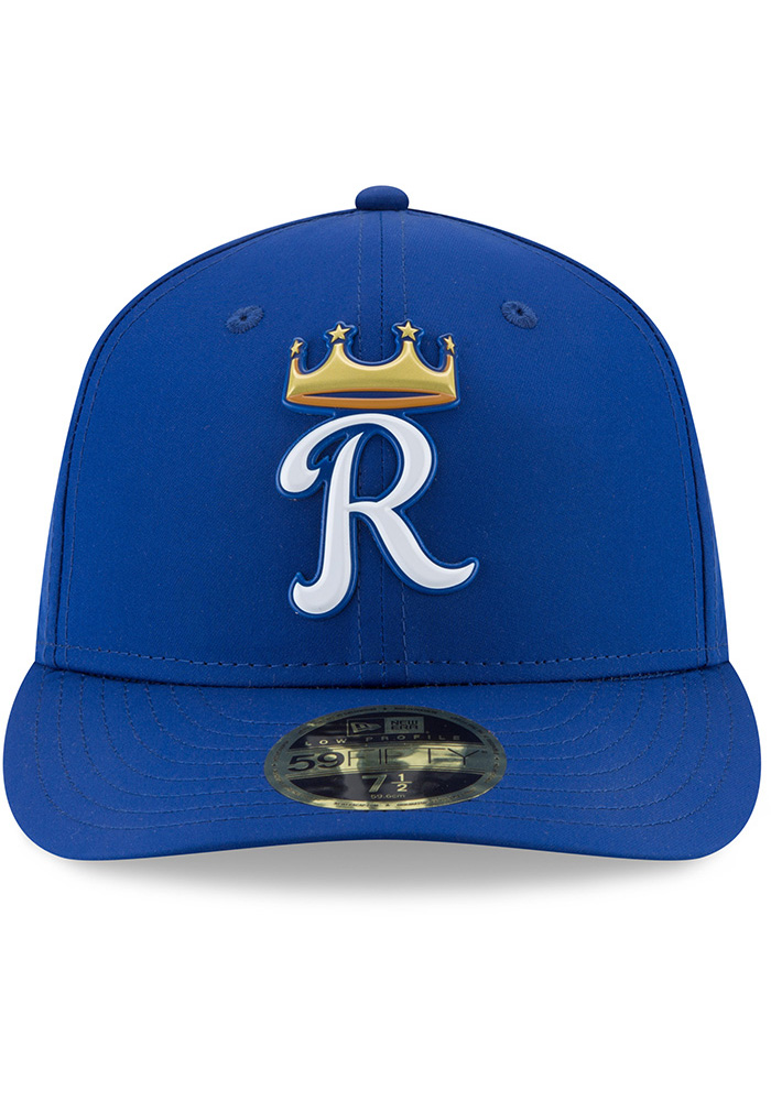 New Era Kansas City Royals Mens Blue Spring Training 2018 BP Low Pro 59FIFTY Fitted Hat - Image 3