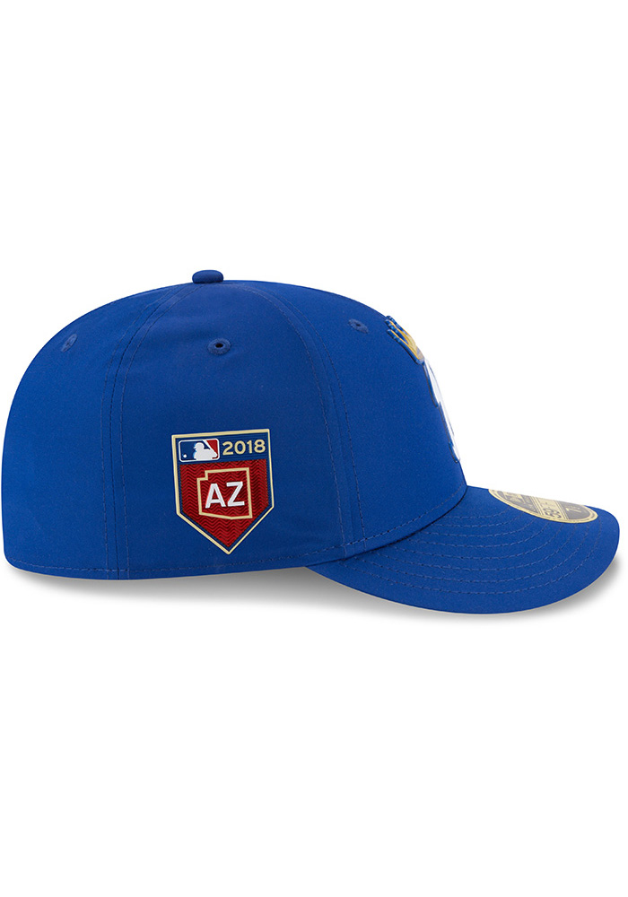 New Era Kansas City Royals Mens Blue Spring Training 2018 BP Low Pro 59FIFTY Fitted Hat - Image 6