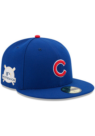 Chicago Cubs New Era Mens Blue 2017 Postseason Side Patch 59FIFTY Fitted Hat