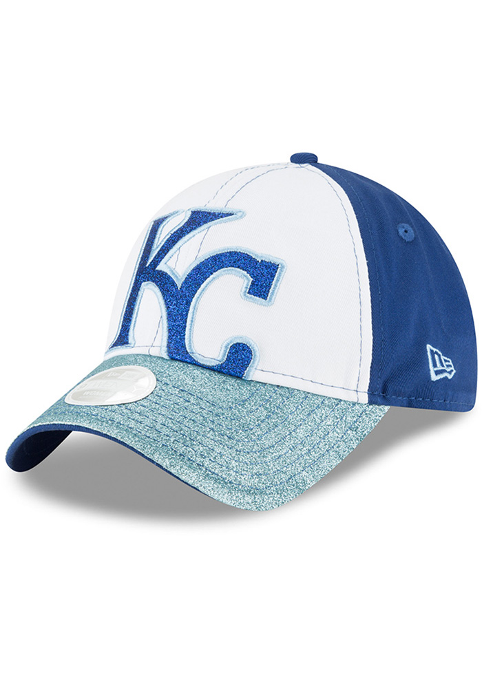 huge selection of 0395a 7b862 ... best price new era kansas city royals womens blue shimmer shine 9forty  adjustable hat cafa2 80510
