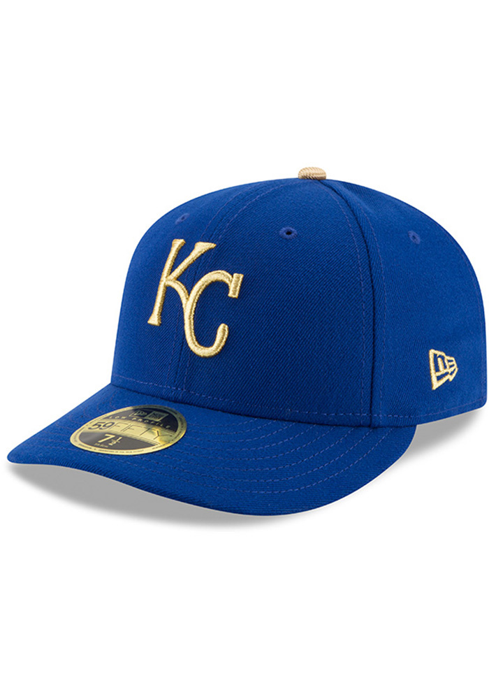 New Era Kansas City Royals Mens Blue 50th Anniversary Alt AC LP59FIFTY Fitted Hat - Image 2