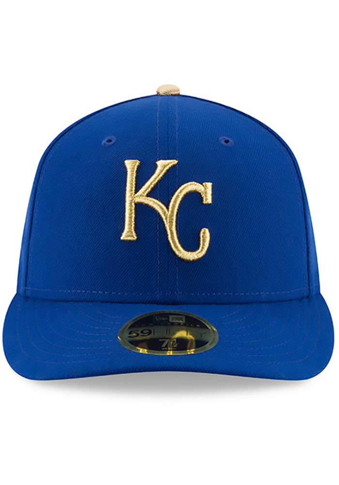 New Era Kansas City Royals Mens Blue 50th Anniversary Alt AC LP59FIFTY Fitted Hat - Image 3