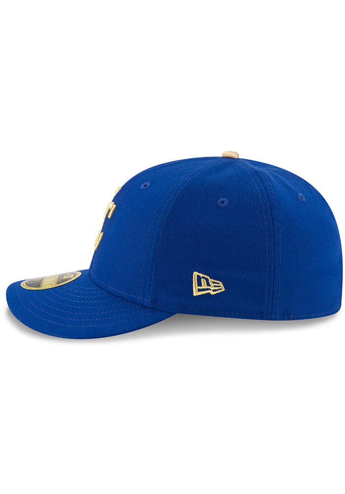 New Era Kansas City Royals Mens Blue 50th Anniversary Alt AC LP59FIFTY Fitted Hat - Image 4
